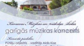 Gareiguos muzykys koncerts Kuorsovā