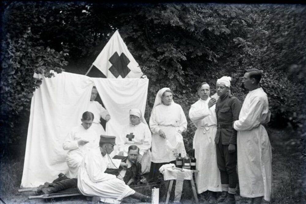Latvejis armejis sanitaruo situaceja Latgolā Naatkareibys kara laikā