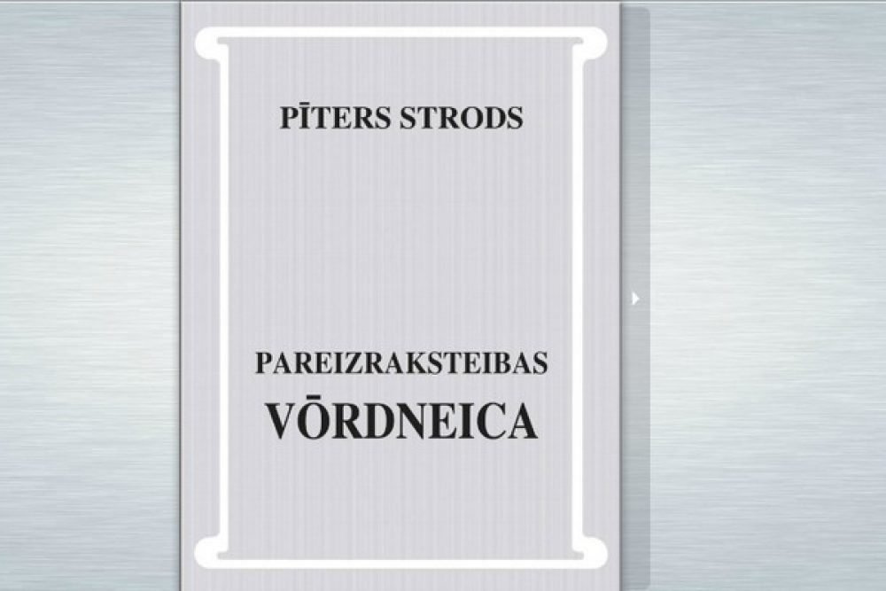 Izguojuse Pītera Stroda pareizraksteibys vuordineicys elektroniskuo verseja