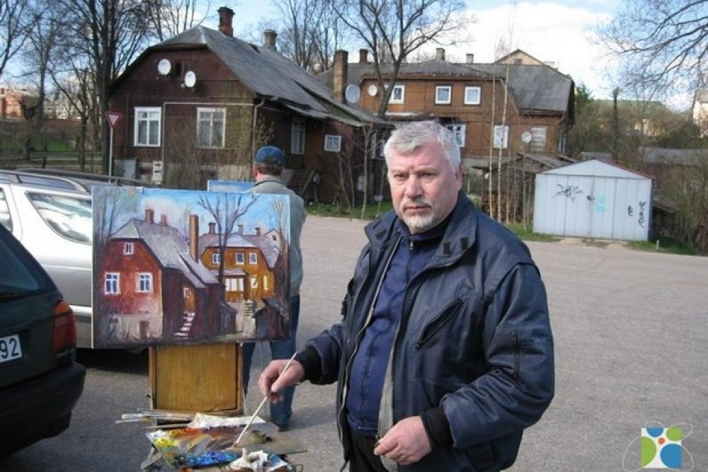 "Lītovīšu muokslinīka Jona Pleckeviča glaznu izstuode ""Latgale"""
