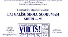 """Sibirī nūtiks konfereņce """"LATGALĪŠU ŠKOLU SUOKUMAM SIBIRĪ — 90"""""""
