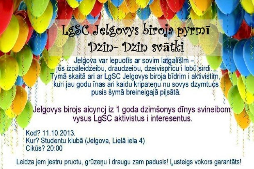 LgSC Jelgovys birojs svieteis 1 goda jubileju