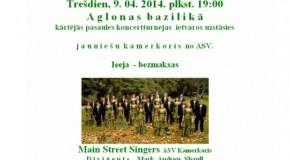"""Latgolā uzastuos pasauļslavanais jaunīšu kors """"Main Street Singers"""""""