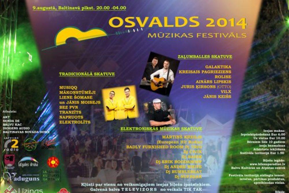 """Tyvojās muzykys festivals """"Osvalds 2014"""""""
