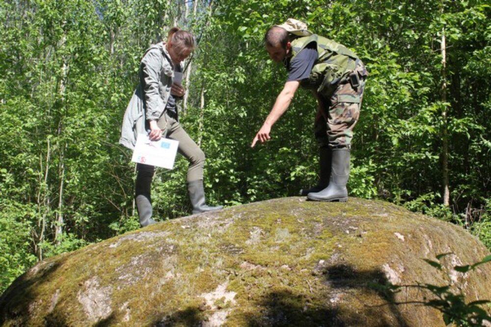 Arheologiskūs pīminekļu apzynuošona Ludzys nūvodā puorrūbežu projekta laikā