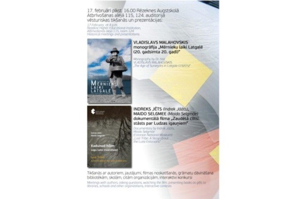 Monografejis prezentaceja i kinys demonstriešona Rēzeknis Augstškolā