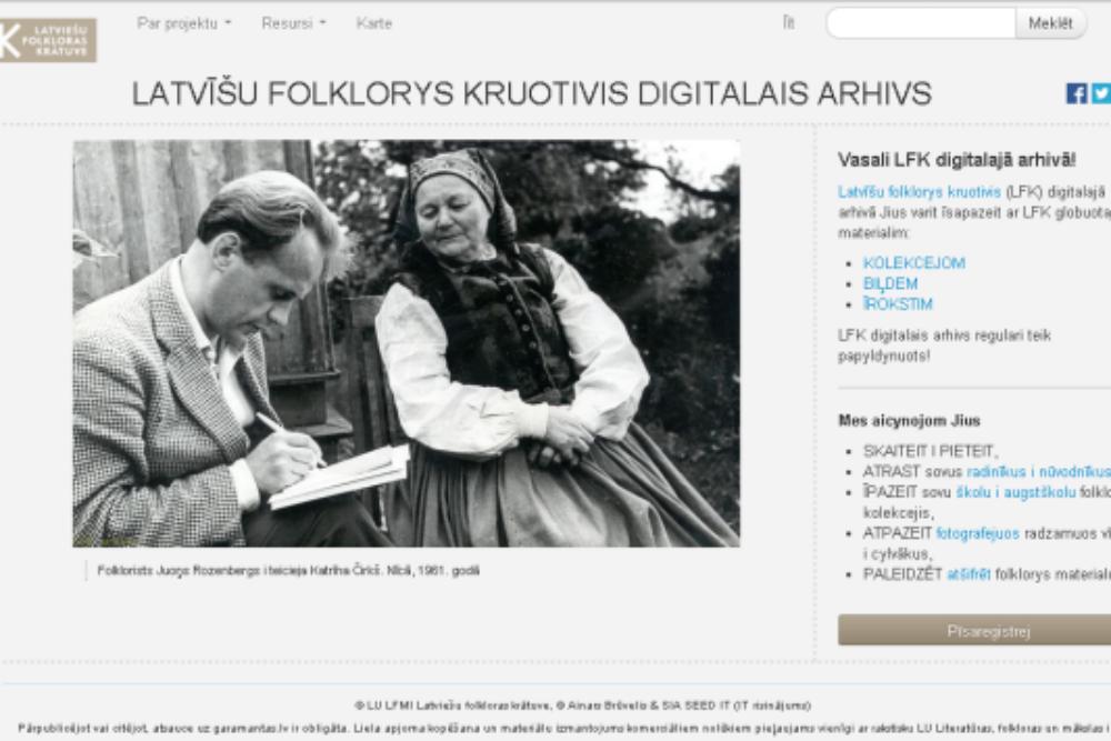 LFK digitalajā arhivā ari materiali par Latgolu