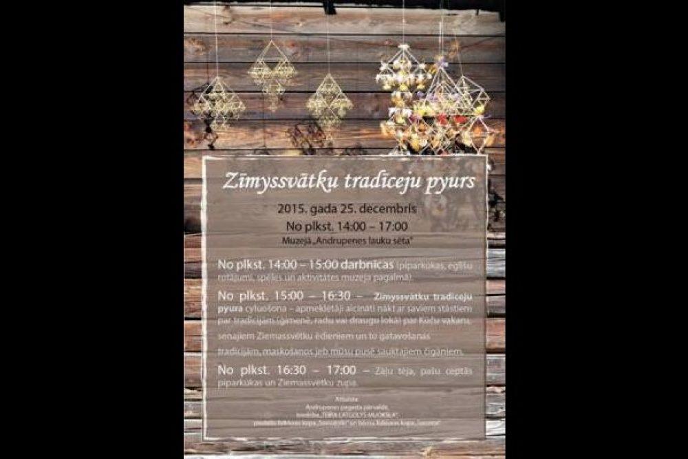 Ondrupinē puorcyluos Zīymyssvātku tradiceju pyuru