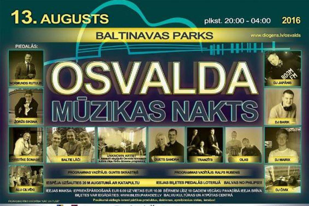 Baļtinovā izskanēs Osvalda Muzykys nakts