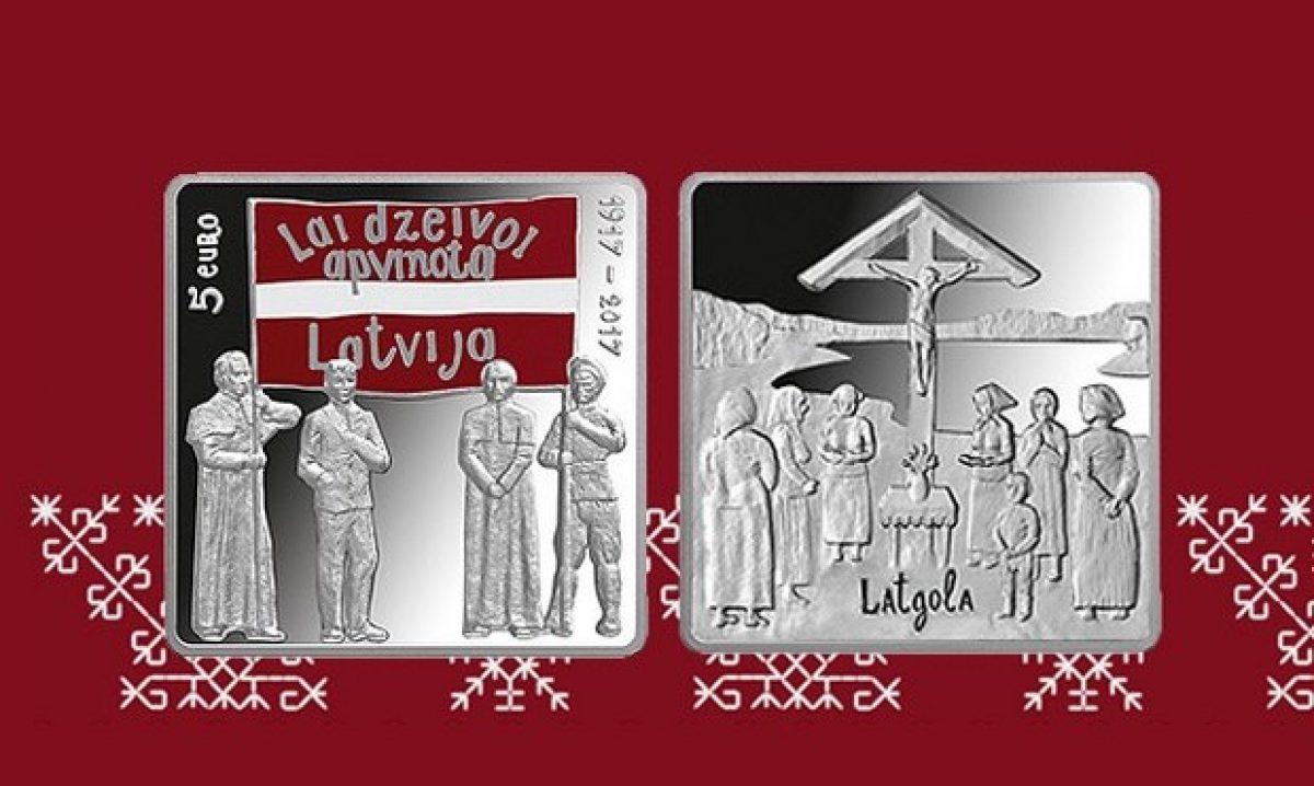 """Apgrūzeibā laista kolekcejis moneta """"Latgales kongress"""""""