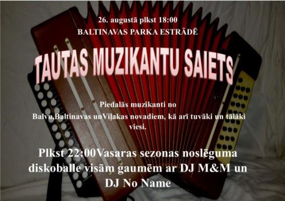 Tautys muzykantu saīts @ Baļtinovys parka estrade | Baltinava | Latvia