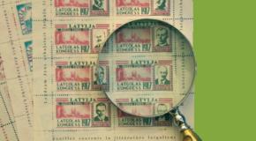 Izdūts Andryva Jūrdža fonda pamarku katalogs ar skaidruojumim