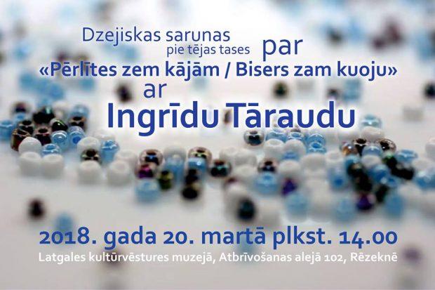 Dzejiskys sarunys ar Ingrīdu Tāraudu @ Latgolys Kulturviesturis muzejs | Rēzekne | Latvia