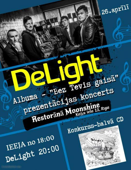 """DeLight"" albuma prezentaceja @ Restorans ""Moonshine"" | Rīga | Latvia"