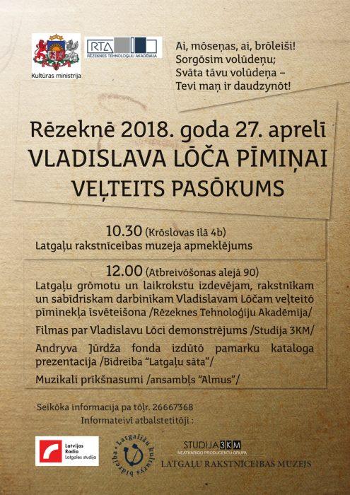 Vladislava Lōča pīmiņai veļteits pasuokums @ Rēzekne | Rēzekne | Latvia