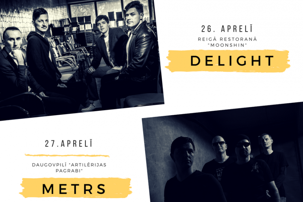 """""""Metrs"""" i """"DeLight"""" aicynoj iz albumu prezentacejis koncertim, Rībeņūs latgalīšu grupu festivals"""