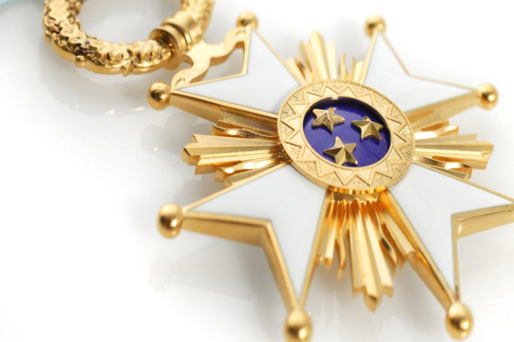 Latgalīšim pīškeirs Treju Zvaigžņu ordeni