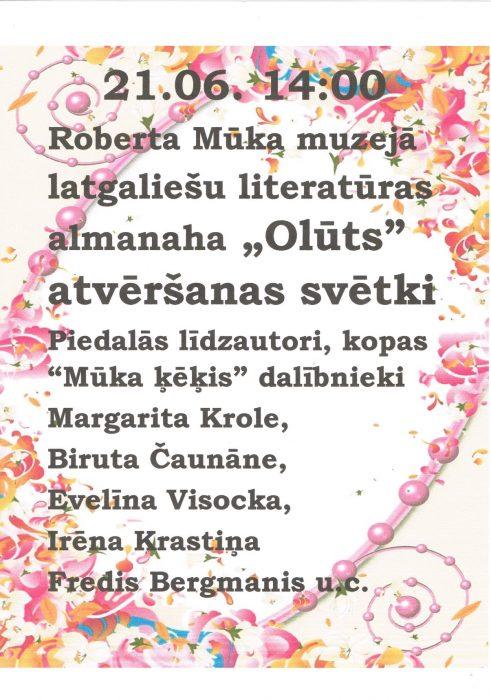 "Almanaha ""Olūts"" atvieršona @ Roberta Mūka muzejs | Galēni | Latvia"
