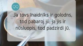 "10 dzeivis griudeni nu Andryva Jūrdža ""Myužeiguo kalindera"""