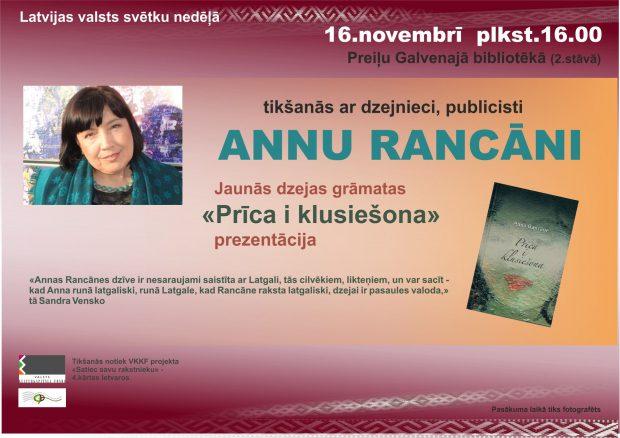 Tikšonuos ar Annu Rancāni @ Preiļu golvonuo biblioteka | Preili | Latvia