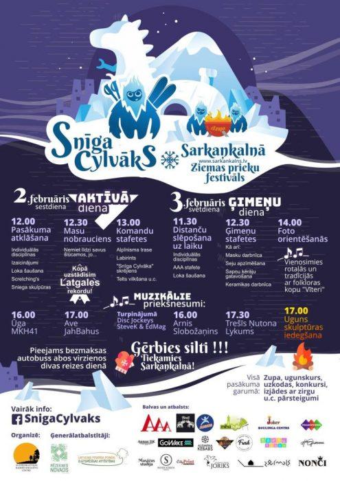 "Zīmys prīcys festivals ""Snīga cylvāks"" @ Sarkaņkolns"