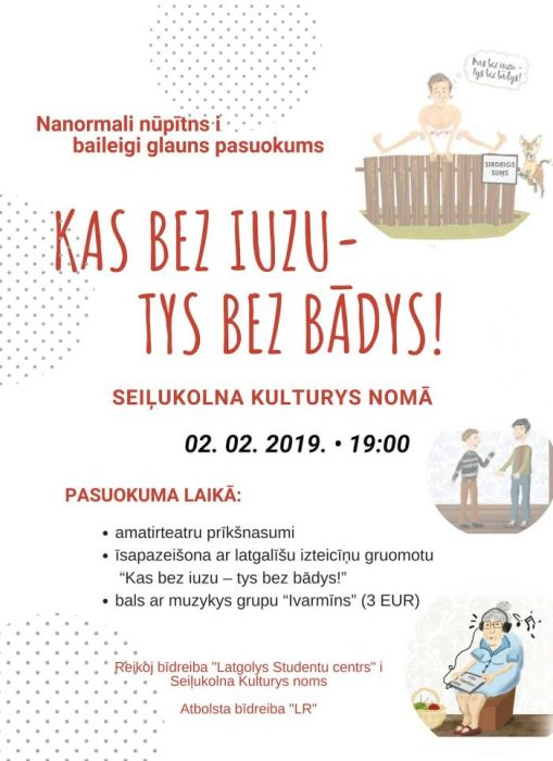 """Gruomotys """"Kas bez iuzu— tys bez bādys"""" prezentaceja @ Seiļukolna Kulturys noms"""
