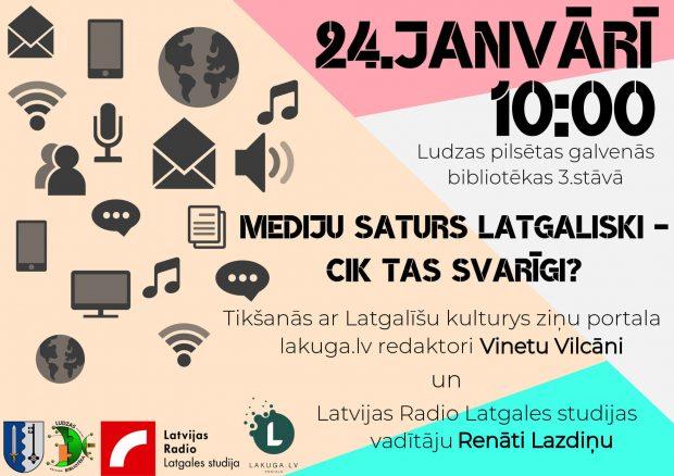 "Diskuseja ""Medeju saturs latgaliski - cik tys svareigs?"" @ Ludzys piļsātys golvonuo biblioteka"