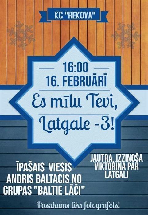 "Viktorina ""Es tevi mīlu Latgale-3"" @ KC ""Rekova"""