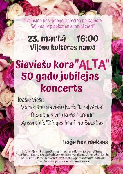 """Sīvīšu kūra """"Alta"""" 50. jubilejs @ Viļānu KN"""