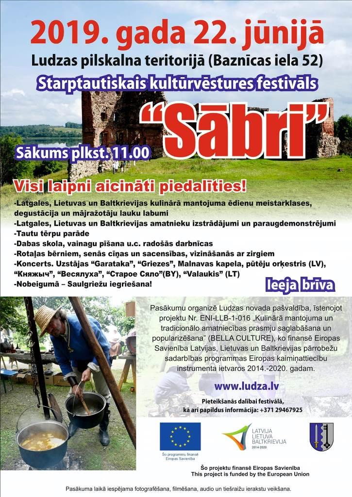 """Storptautysks kulturviesturis festivals """"Sābri"""" @ Ludzys piļskolns"""