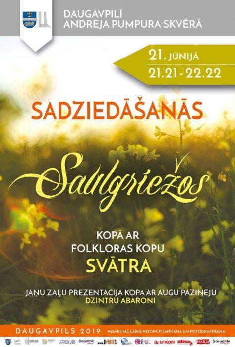 """Sasadzīduošona ar folklorys kūpu """"Svātra"""" @ Andreja Pumpura skvērā"""